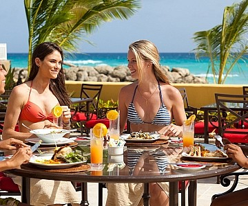 Girls lunch in Barbados