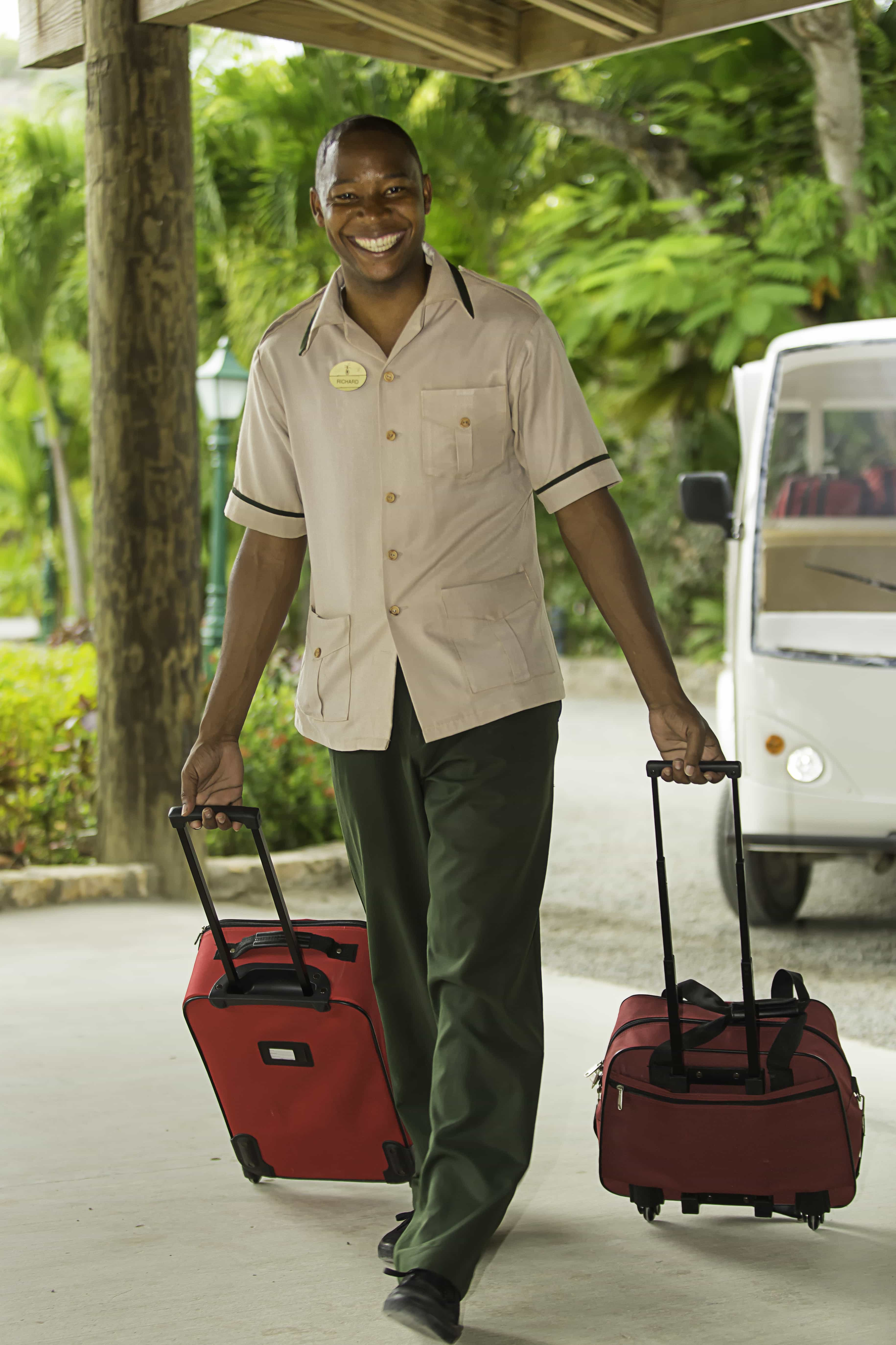 Bellman with luggage