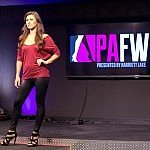 Park Avenue Fashion Week Model about to do her Runway Walk