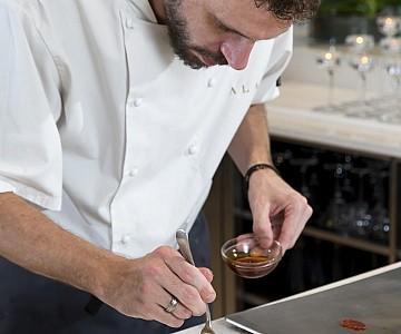 Chef Grant Jones at work