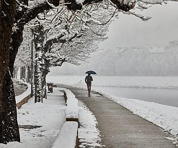 Walk in the Salzburg snow